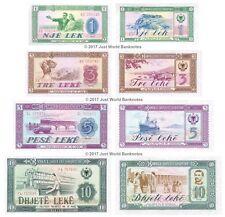 ALBANIE 1 + 3 + 5 + 10 nike 1976 lot de 4 billets 4 pcs UNC