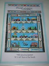 SET of 12 GLAMPING GYPSIES Block of the Month QUILT KIT with 100% Cotton Fabric