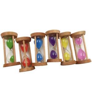6 Stk Sanduhrenset Dekoration Zeitmesser Timer für Kinder Klassenzimmer Küche