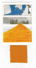 Christo Floating Piers taschen card 17 x 12,7 cm hand signed +stoff 7 x 7 cm=