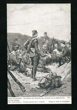Military WW1 France Patriotique  In the Trenches Guerre Europeenne de 1914 PPC