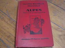 GUIDE ROUGE MICHELIN 1930-31 ALPES DE SAVOIE ET DU DAUPHINE