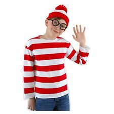 OFFICIALLY LICENSED WHERE'S WALDO CHILD UNISEX HALLOWEEN COSTUME SIZE LG / XLG