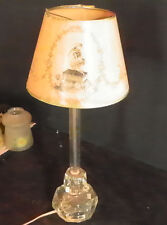 ANTIQUE GLASS LAMP WITH PAPER SHADE 5249