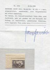 Dt. Reich Mi. 96AIb** Bogenecke, Attest Jäschke BPP für Viererblock (52/18)