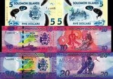 SOLOMON - Lot Lotto 3 banconote 5/10/20 Dollars FDS - UNC