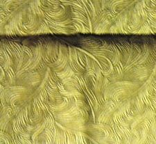 New quilting fat quarter Light and dark green feather print 100 % cotton fabric