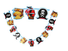 XL 2.2m Birthday Pirate Garland Banner For boys Birthday Party Banners Buntings