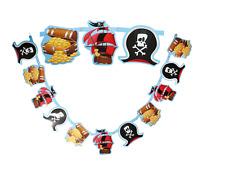 2.2 M Cumpleaños Pirata Guirnalda Banner Para Chicos Fiesta de Cumpleaños Pancartas Escribano