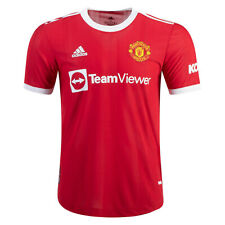 Men's Authentic Manchester United 2021/22 Home Soccer Jersey Football Shirt