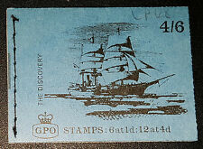 """Gb 1968 Lp48 4/6 Ships Series """"Discovery"""" Stitched Stamp Booklet 11/68 (No165)"""
