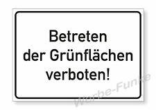 1 Schild Betreten der Grünflächen verboten,  30 x 21 cm