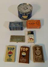 Vintage (11) Cigarette Rolling Papers + Camel Lighter + Brass Paper Holder + Can