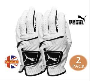 PUMA FLEX LITE Golf Glove White M-L LEFT HANDED GLOVE for RH Player ***2 PACK***