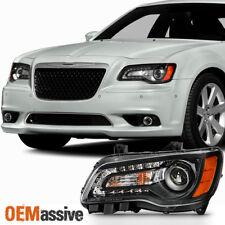 """/""""Right Side Passenger Hand/"""" Headlight Black LED DRL For 2011-2014 Chrysler 300"""