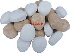 FIREPLACE 15 WHITE&BEIGE REPLACEMENTS/STONES/PEBBLES GAS FIRE RCF REPLACEMENT