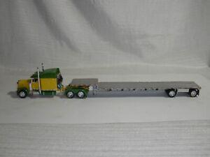 DCP 1/64 SCALE 379 PETERBILT 60'' BUNK GREEN & YELLOW w/trailer