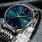 Mens Watches Stainless Steel Waterproof Date Analogue Quartz Sport Wrist Watch