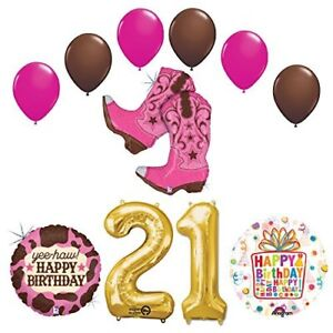 Wild West Cowgirl Boots Western 21st Birthday Party Supplies