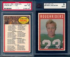 1972 OPC CFL Complete Set 132 Theismann Ron Lancaster ksa 9 mint Checklist psa 8