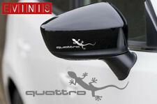 Audi Quattro Gecko Paire Argent Vinyle symbole Miroir decals stickers Graphics