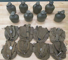 {8} US MILITARY 1 QT CANTEENS : (8) COYOTE BROWN COVERS ~ Used~