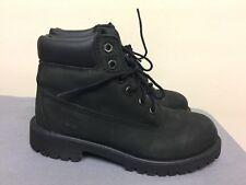 Timberland Hiking Trail Black Nubuck Boots 12707 Boys Size US 1.5