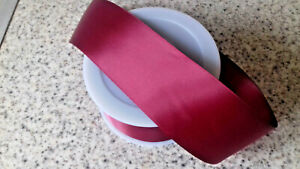 2 mtrs Dark Pink  Double Satin Ribbon 50mm, (2 inch wide )