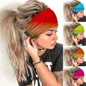 Elastic Boho Wide Headband Hairband Running Yoga Turban Women Soft Head Wrap