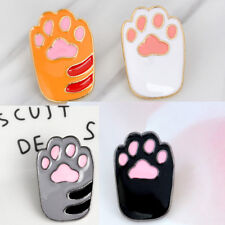 set of 4 cute Cat paws hard enamel pins kawaii cats kitten kitty badges animals