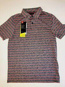 Under Armour New Playoff 2.0 Tour Stripe Golf Polo Shirt Youth Boy's Size Medium