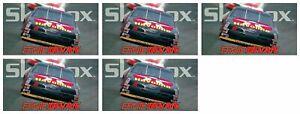 "(5) 1994 SkyBox Racing #3 Ernie Irvan's Car 4 1/2"" x 2 1/2"" Trading Card Lot"