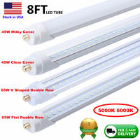 8' 45W led shop light Single Pin 8FT FA8 V Shaped 65W Double Row LED Tube Light