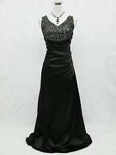 Cherlone Übergröße Schwarz Ballkleid Abendkleid Brautkleid Brautjungfer Kleid 44