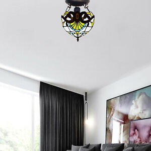Captivating Antique Tiffany New Style Stained Glass Ceiling Light Home Decor UK