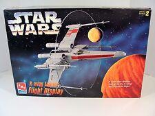 STAR WARS AMT X-WING FIGHTER FLIGHT DISPLAY MODEL KIT FACTORY SEALED 1995 #8788