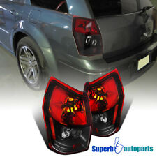 For 2005-2008 Dodge Magnum Replacement Tail Lights Brake Lamps Red/Black