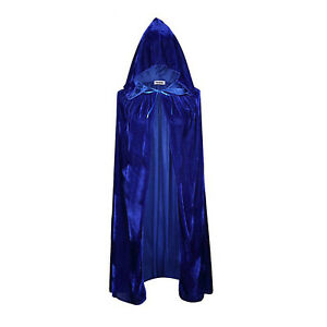 Velvet Cloak Cape Medieval Pagan Witch Wizard Vampire Birthday Cosplay Costumes
