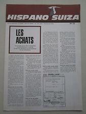 REVUE HISPANO-SUIZA 1966 19 SERVICE ACHAT BOUVIERS AEROTRAIN BERTIN THM EJECTION