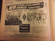 1953 Namco Furniture Vintage Australian Print Advertising Home Design