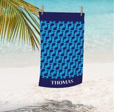 Kids Personalized Shark Beach Towel