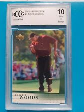 2001 Upper Deck Golf #1 Tiger Woods RC Rookie BCCG 10 GEM MINT