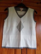 BNWOT Boy's DESIGNER Knit Vest Tank Top Size 8 MALINA From USA