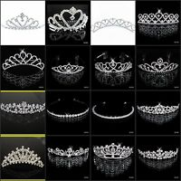 Women Girl Bride Wedding Jewelry Tiaras Crown Headband Hair Accessory Headpieces