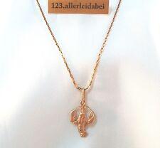 russische 583 er Rotgold Kette Anhänger mit Krebs 583 Gold Halskette / AU 145