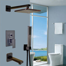 "Oil Rubbed Bronze Bath 8""Rain Shower Faucet Tub Spout Mixer Tap W/Hand Shower"