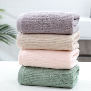 4pcs Bamboo Fiber Towel Hand & Face Towel Water Absorption 13.4 * 29.5 Inches