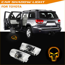 Fire Punisher Skull Car Door Welcome Laser Projector Shadow LED Light For Toyota