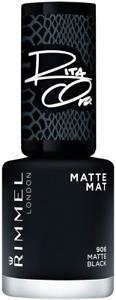 Rimmel Rita Ora 60 Seconds Nail Polish, Shades of Black Matte Black