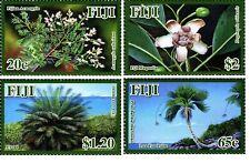 Fiji 2012 Endangered Flora Nature Trees Flowers Stamps set 4v MNH